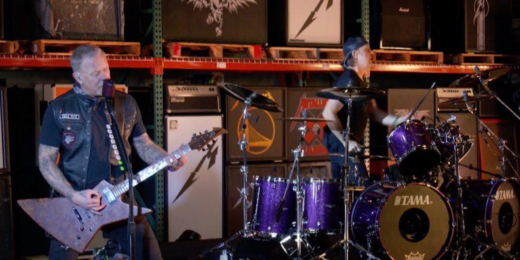 Metallica - Enter Sandman, in primul concert din 2021, concert, post-Superbowl, 2021, Metallica, Enter Sandman,